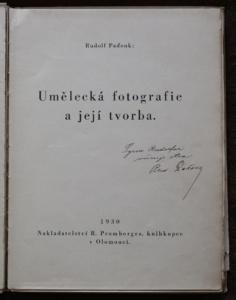Kniha UMĚLECKÁ FOTOGRAFIE R. Paďouk