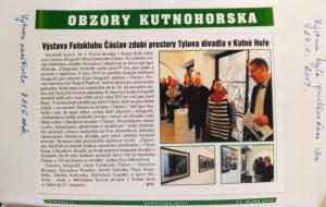 článek o výstavě v KH 2016
